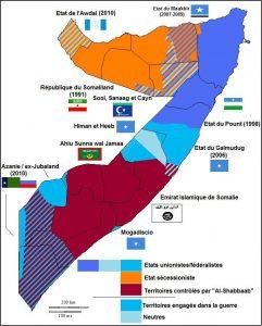Différents états de Somalie